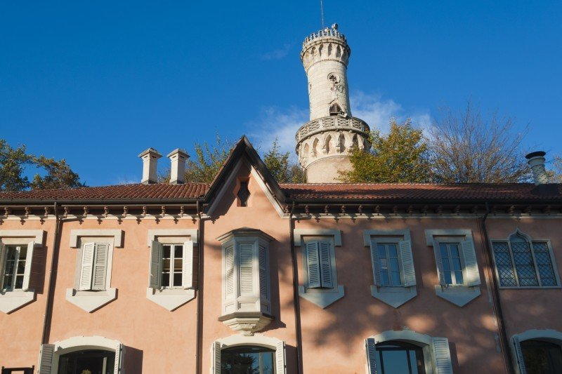 Tower of Villa Mirabello, Varese.