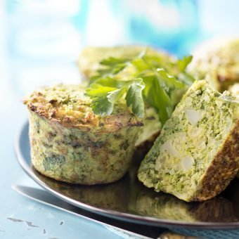 Broccoli and cauliflower flan